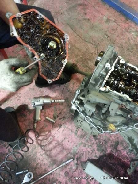Ремонт двигателя Ниссан Теана в автосервисе Автотело