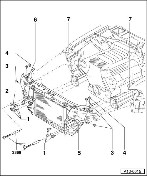 Доступ к двигателя при замене ГРМ на Ауди а4
