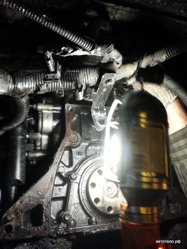 течь масла из двигателя КИА