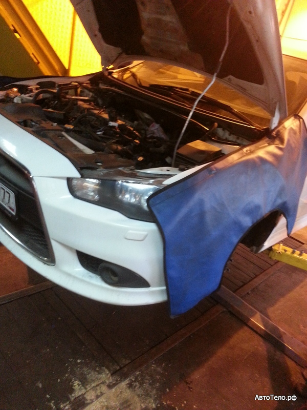 ремонт двигателя Mitsubishi lancer EVO