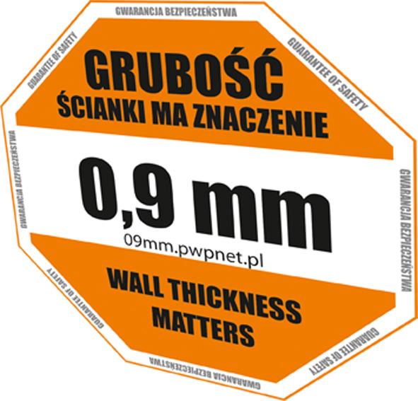 WP толщина стенки 0.9 мм